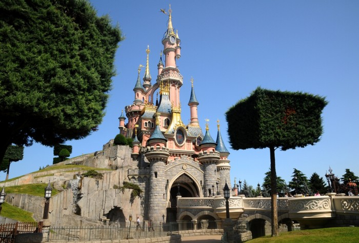 Disneyland Paris Castle - the park is number 9 on our list of the world's world's top theme parks of the decade