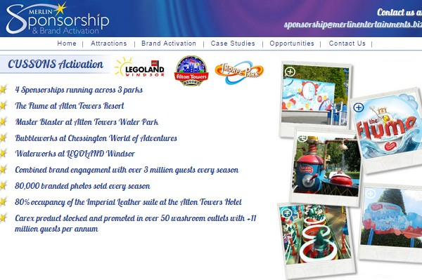 Merlin Entertainments Sponsorship Cussons