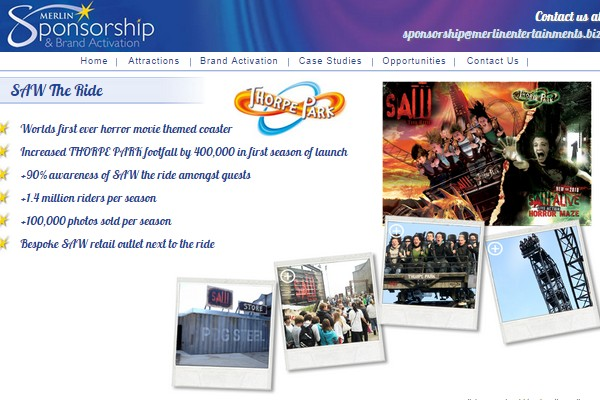 Merlin Entertainments Sponsorship SAW
