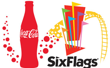 coca cola six flags sponsor
