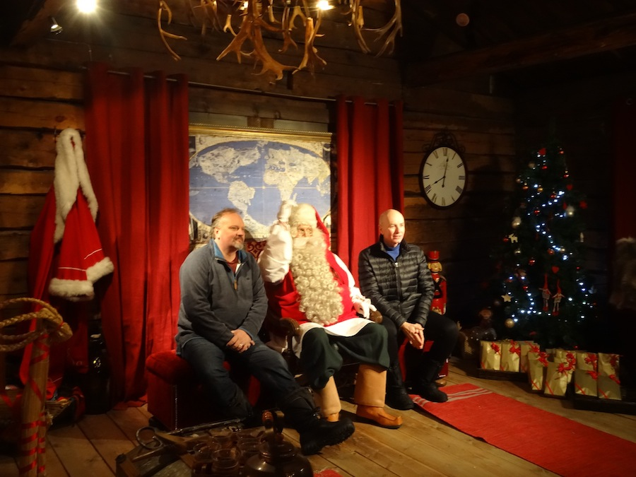 paul kent and rick worner with santa