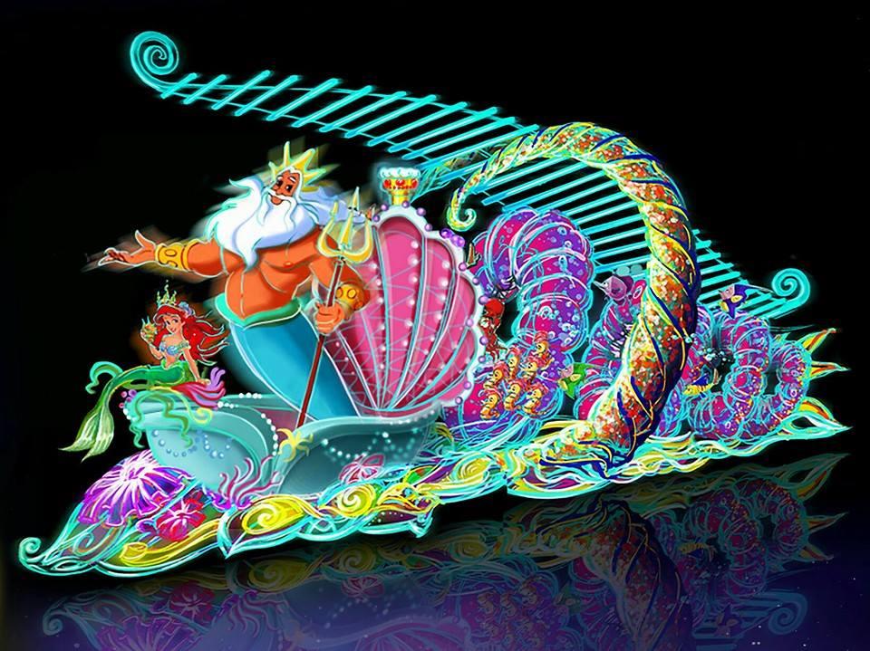 paint the night hong kong disneyland artwork