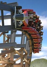Dollywood Lightening Rodd wooden rollercoaster