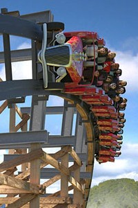 Dollywood Lightening Rodd wooden rollercoaster