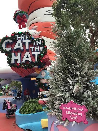 Cat in the Hat Christmas Signage Universal Islands of Adventure