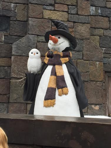 Harry Potter Wizarding World Snowman Christmas Decoration