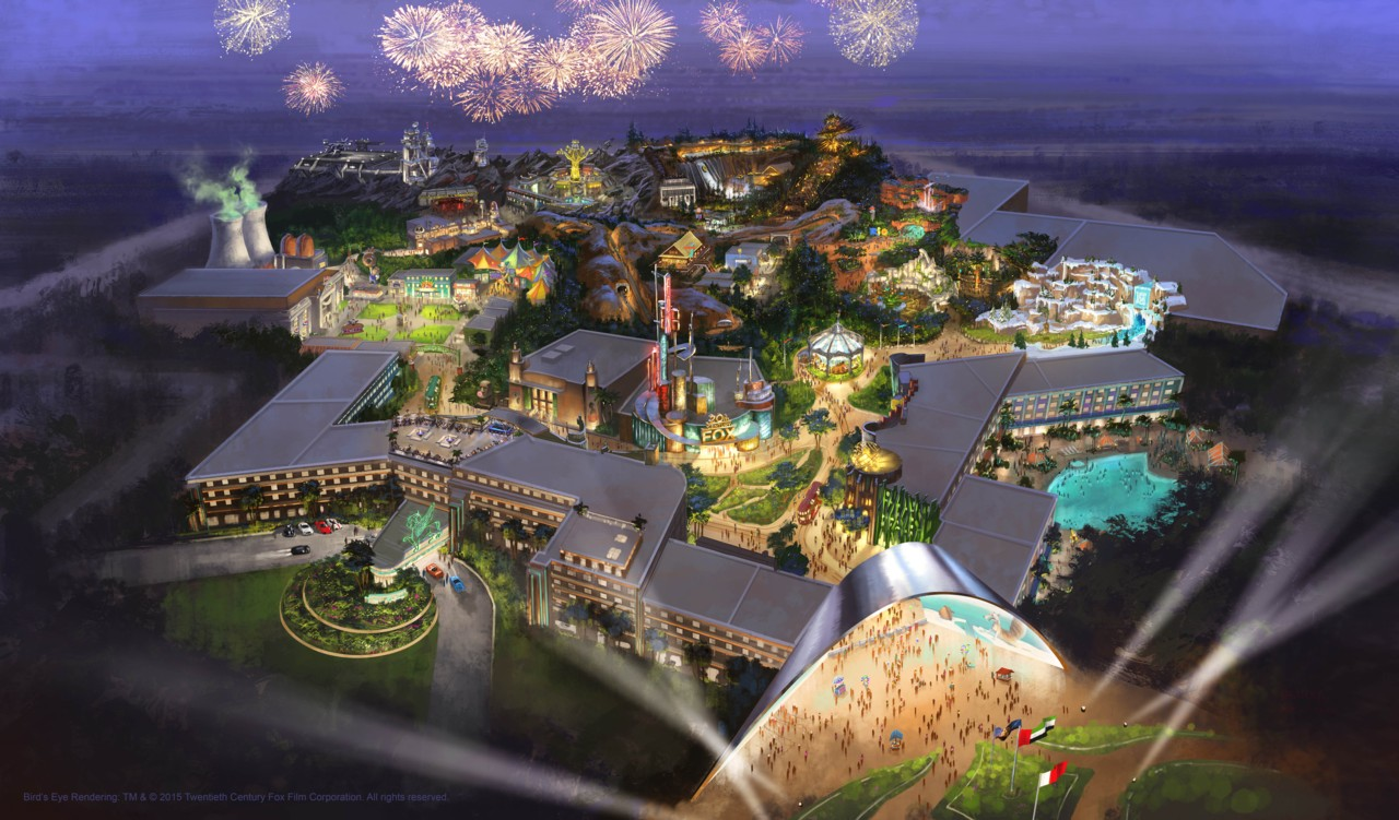 Plans for 20th Century Fox World Dubai