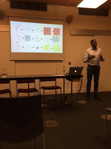 Carlton Gadjadhar speaking on Customer Experience Journeys at Gateway Ticketing Event