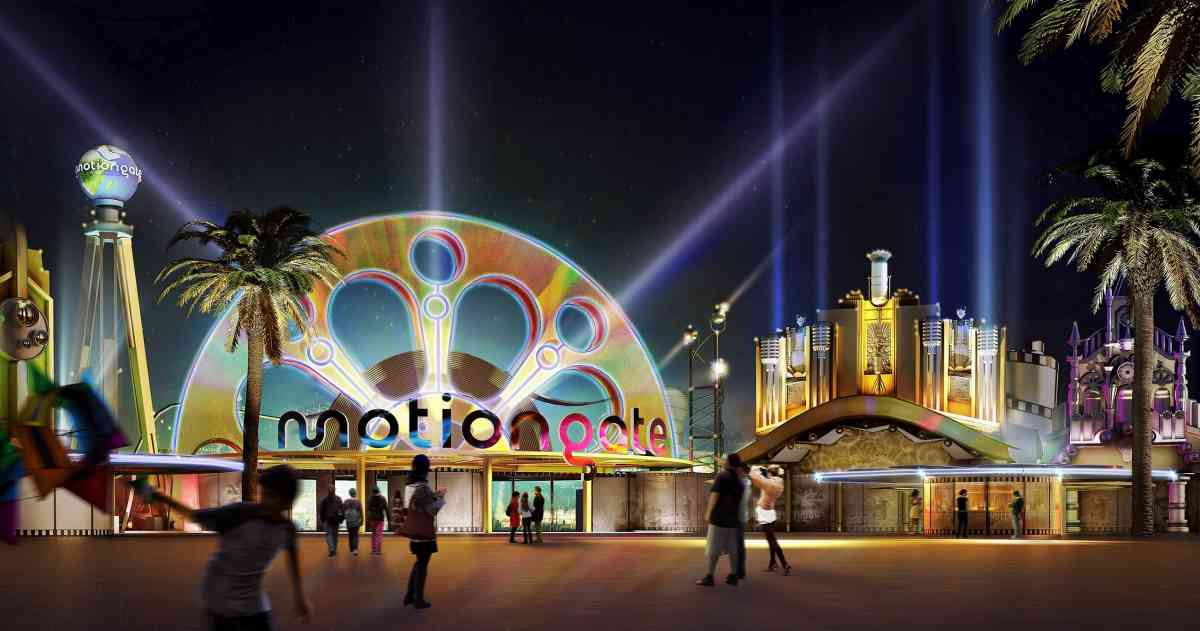Motiongate concept art Dubai Parks and Resorts
