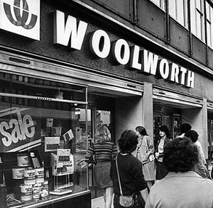Woolworths Shops Vintage Photo