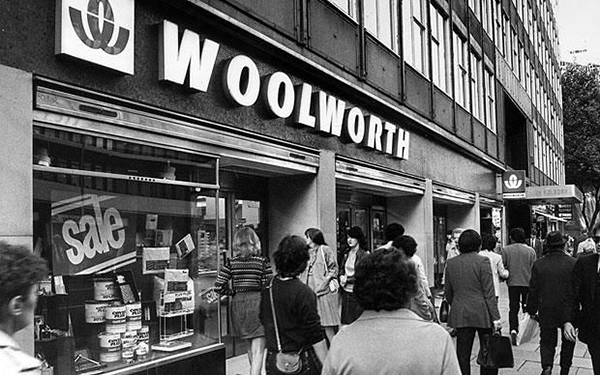 Woolworths High Street Vintage Photo