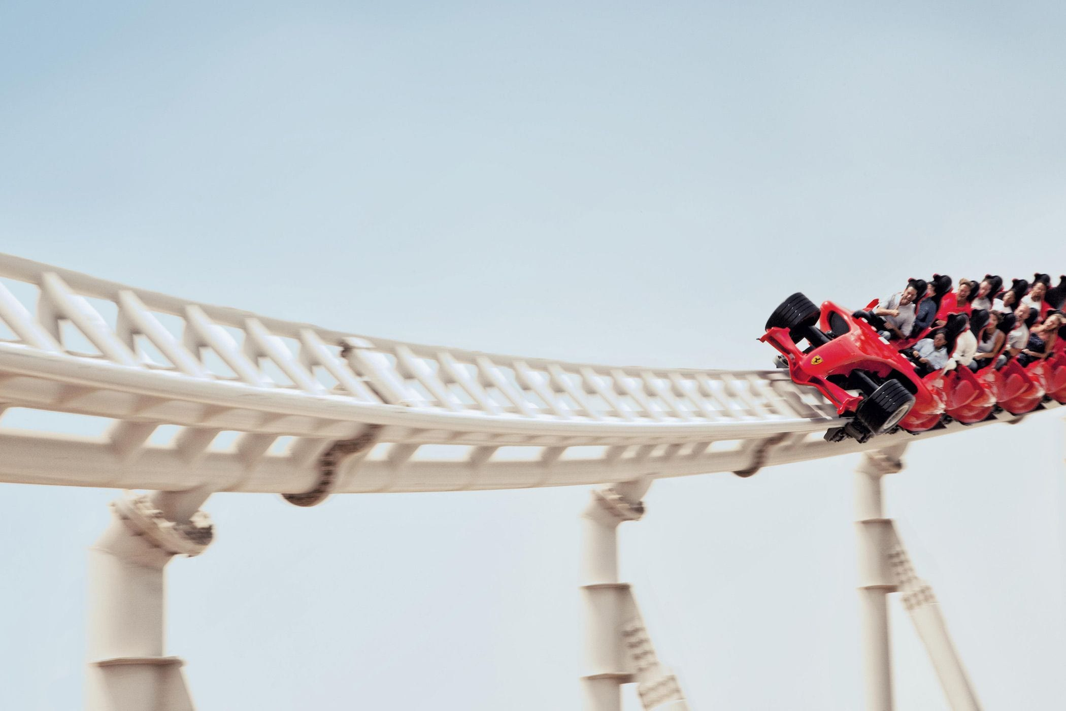 ferrari world abu dhabi formula rossa roller coaster jesse vargas