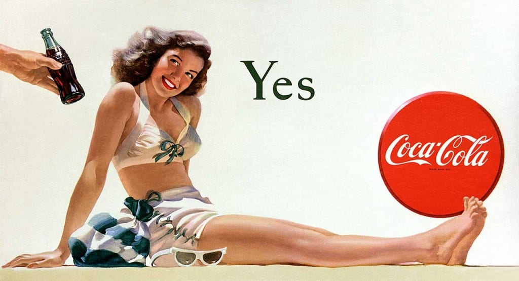 cocal cola yes girl 1946 by haddon sundblom