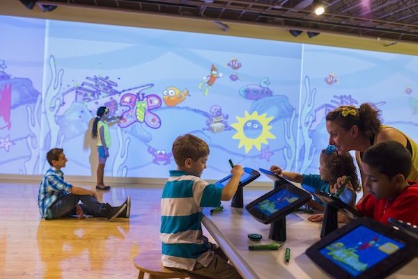 children playing at crayola experience