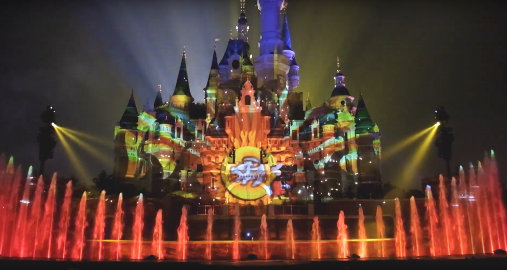 Shanghai Disneyland Castle Night Show
