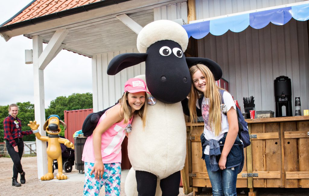 shaun the sheep from aardman at skanes djurpark theme park