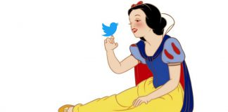 snow white and twitter bird