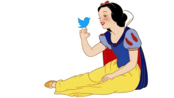 snow white and twitter bird