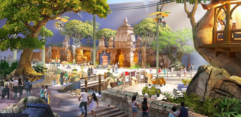 rendu du parc à thème Jurassic Dream, projets d'attractions asiatiques