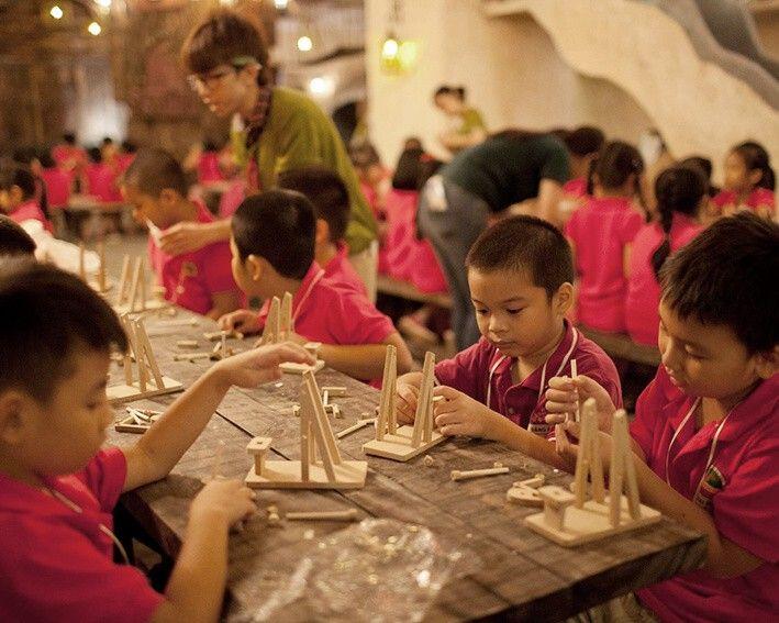 children constructing somewhereland vietnam