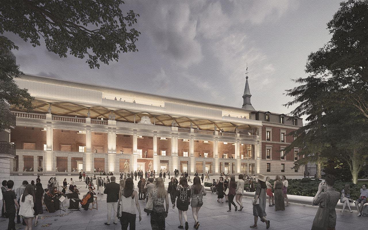 Foster designs historic Hall of Realms (Salón de Reinos) the Museo del Prado campus in Madrid
