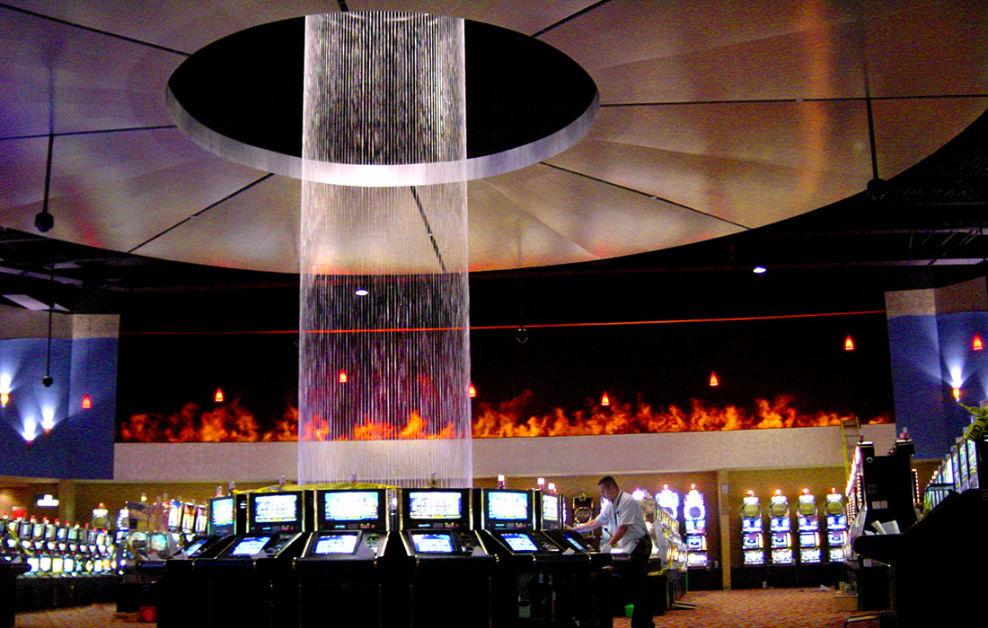 Iconic Water FauxFire Feature Spotlight 29 Casino Technifex