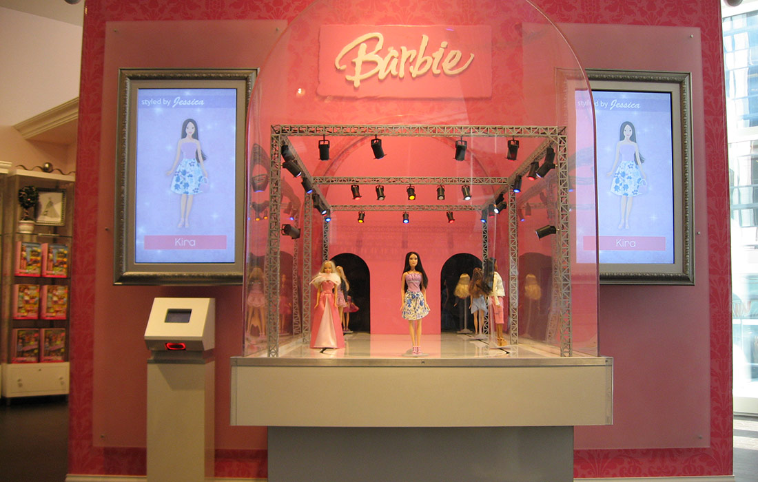 Mechanical Retail Display Barbie Runway Technifex