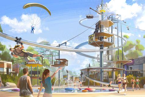 najibi waterpark theme park whitewater