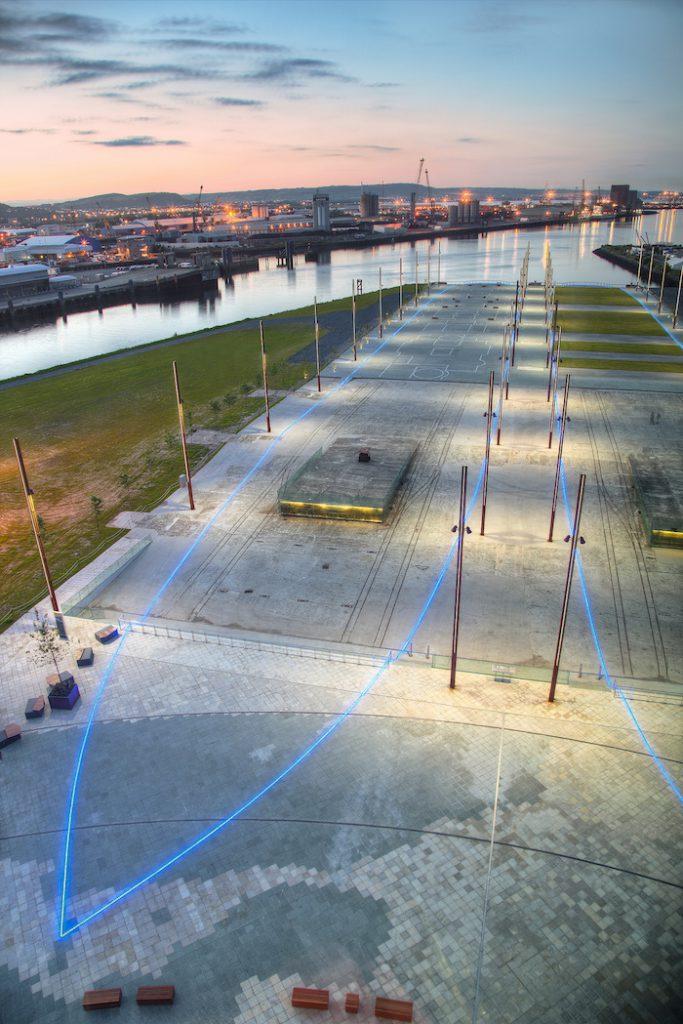 titanic belfast ship outline