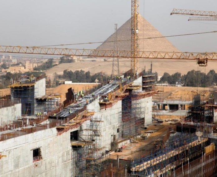 grand egyptian museum construction