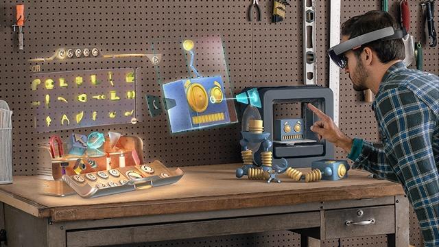 virtual reality microsoft hololens augmented mixed reality