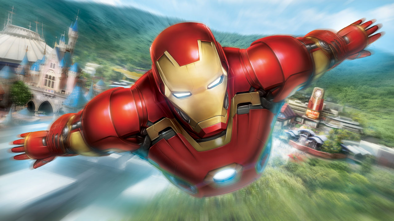 ironman at hong kong disneyland