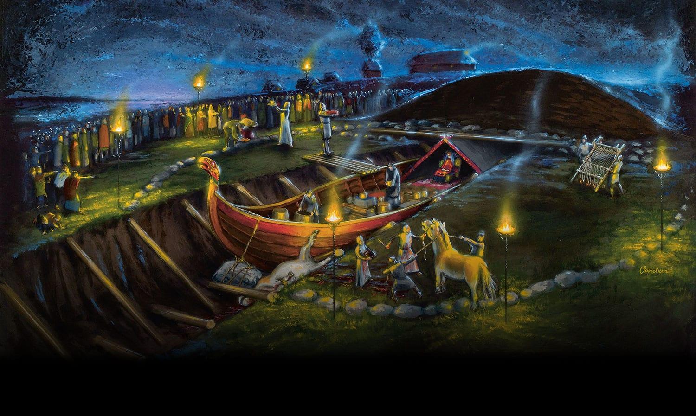 viking burial from vikingaliv stockholm