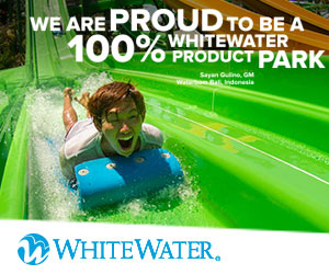 whitewater boy on waterslide