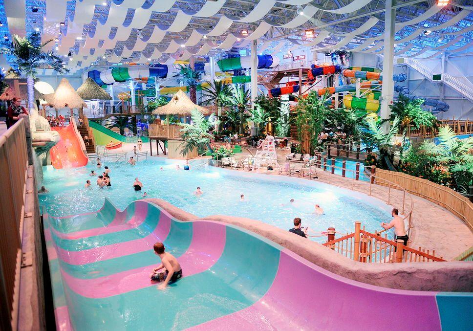 ADG Designs Bora Parc Indoor Waterpark in Quebec for Village Vacances Valcartier Resort