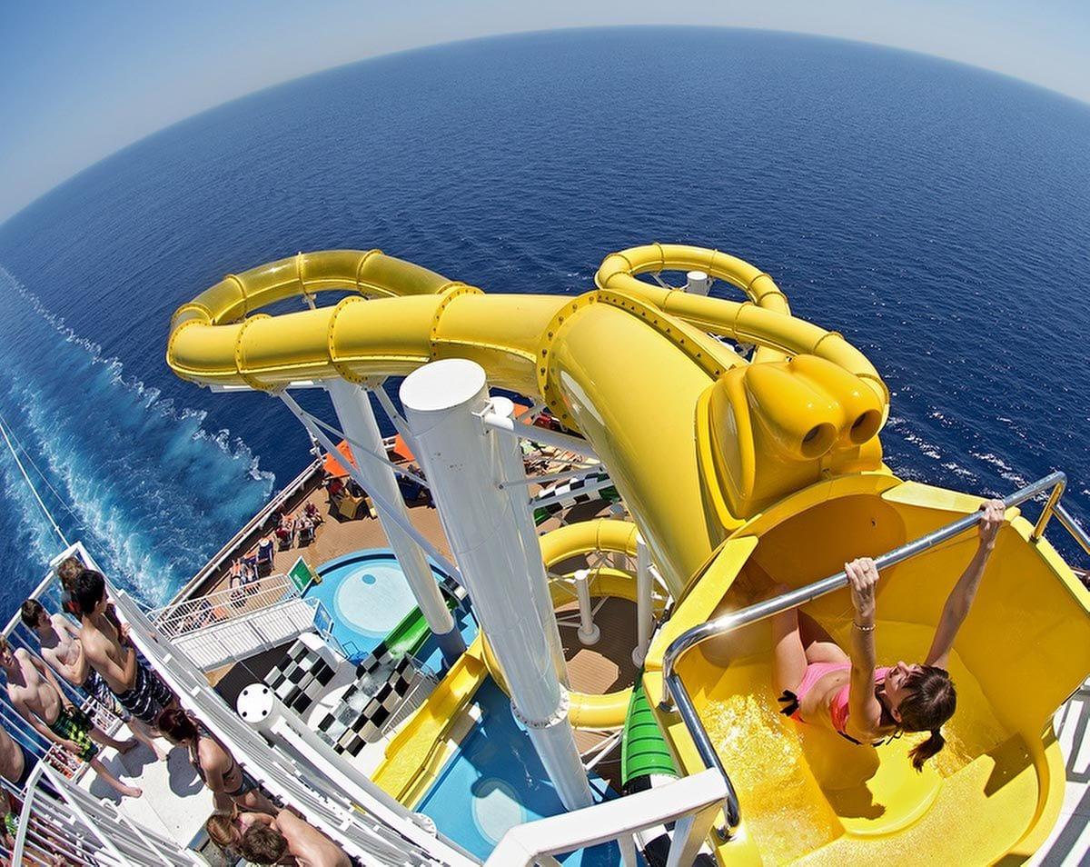 carnival sunshine cruise waterpark polin