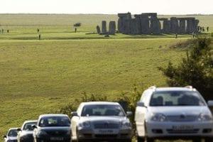 Cars near stonehenge