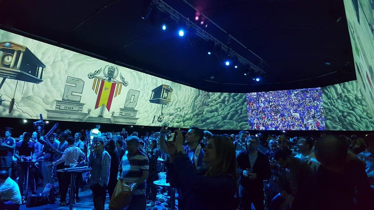 hyundai holovis audiovisual fan dome euro 2016
