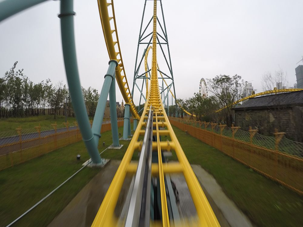 Intamin LSM Launch Coaster at Wanda Hefei