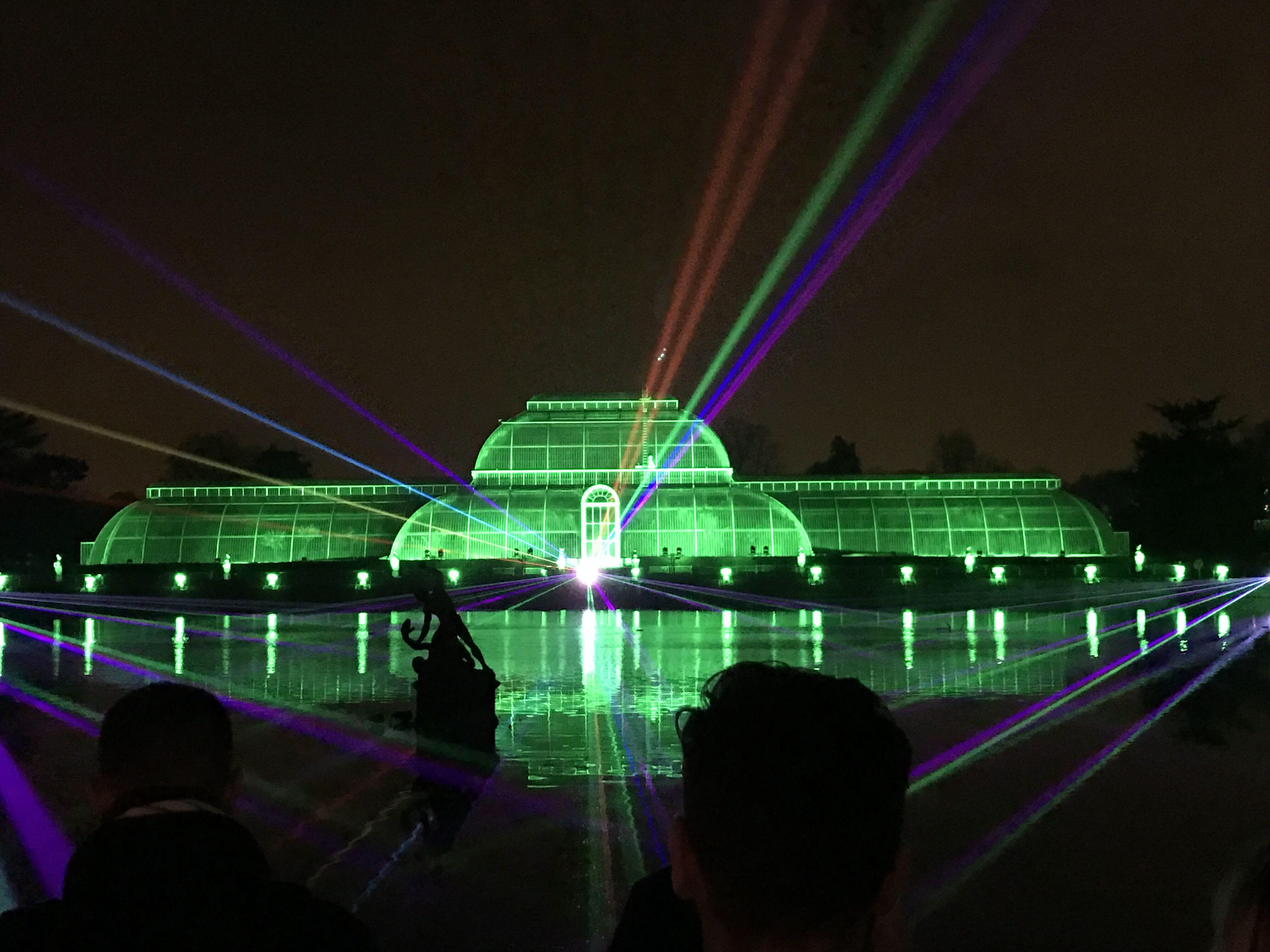 Christmas at Kew Lasers Greenhouse