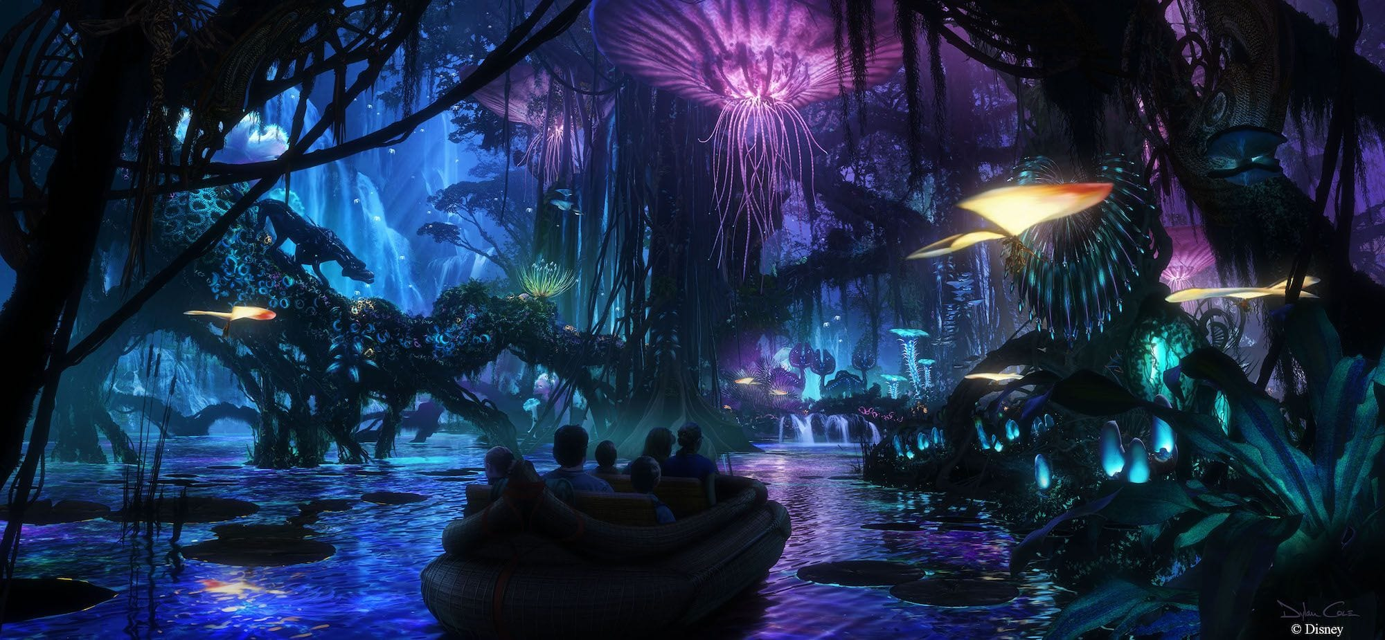 World of Avatar Disney dark ride pandora