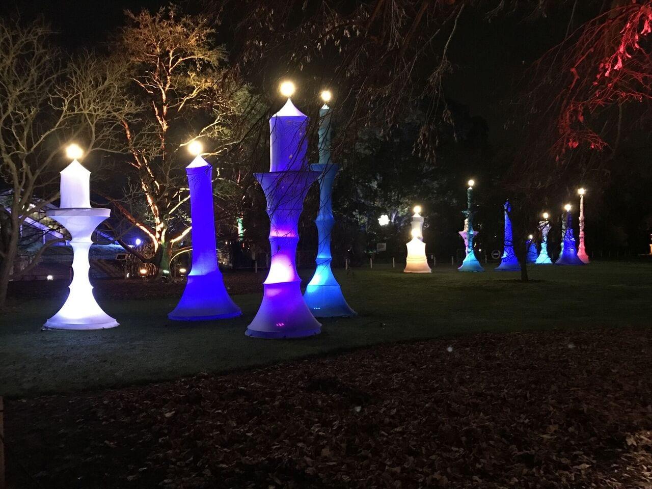 Candlesticks at Christmas at Kew