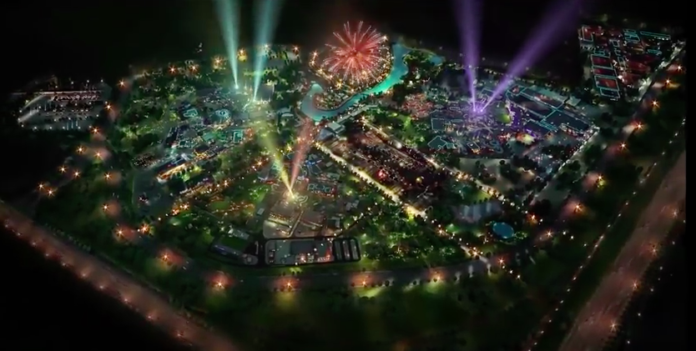dubai parks and resorts nighttime