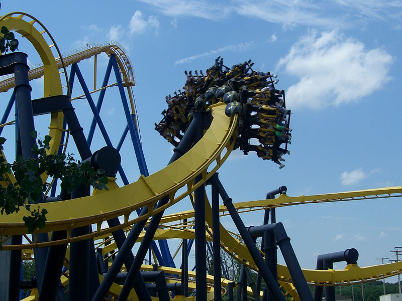 Batman Corkscrew at Six Flags Great Adventure in New Jersey.