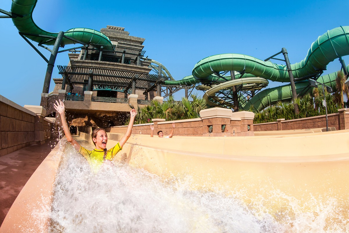 WhiteWater The ORIGINAL Waterpark Attractions Company Announces Opening Of A Six Waterslide Complex At Atlantis Palm Dubais Aquaventure