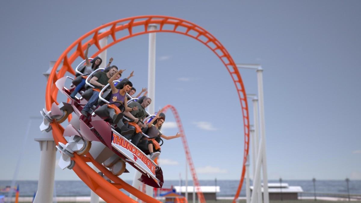 Woody Allen Coney Island Roller Coaster