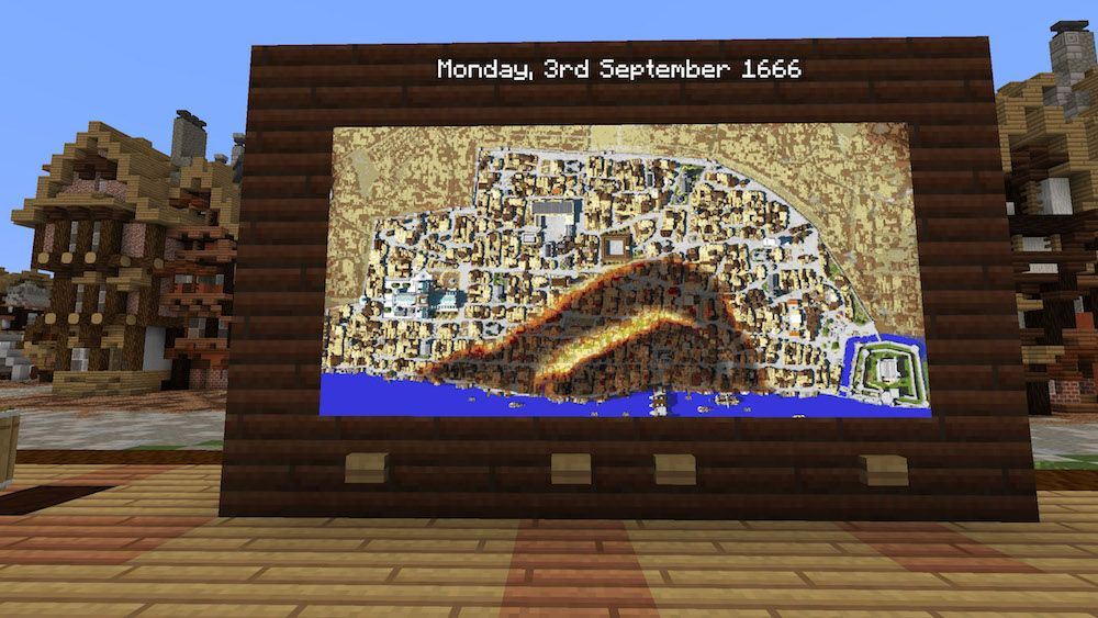 minecraft museum of london Map showing the spread of the Great Fire blooloop