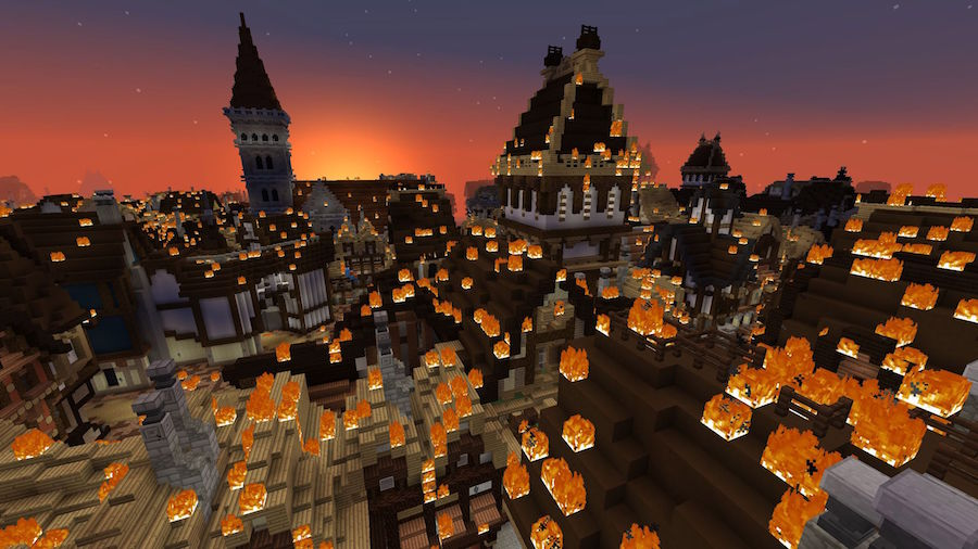 Minecraft gamifying museums,  The Great Fire of London Blooloop 2