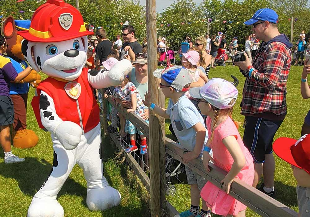 Rainbow productions at NFAN paw patrol farm attraction