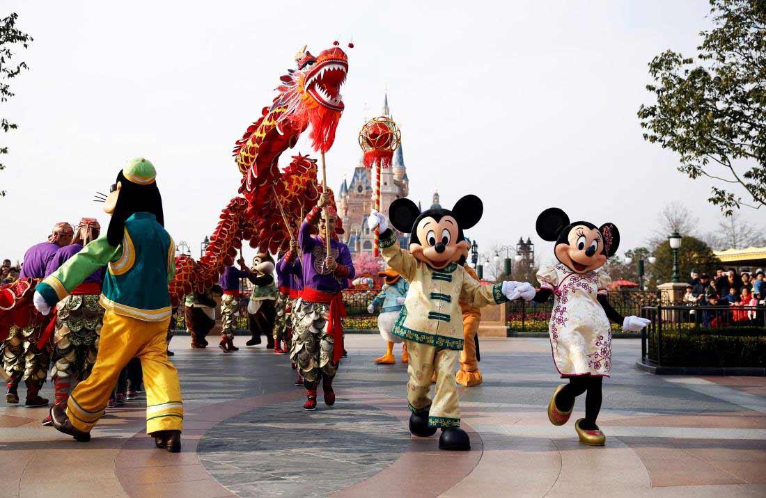 shanghai Disney resort Chinese new year bob iger warns against a trade war with china